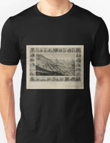 Panoramic Maps Virginia City Nevada Territory 1861 Unisex T-Shirt