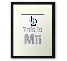 This is mii Framed Print