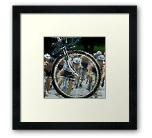 Bicycle Tour en France, Giro, race Framed Print