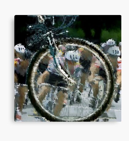 Bicycle Tour en France, Giro, race Canvas Print