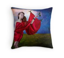 Hummingbird Fantasy Throw Pillow