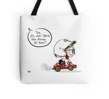 """LH Vol3 March """"Forever driving in puddles"""" Tote Bag"""