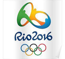 LOGO Rio 2016 Olympics & Paralympics - Summer Games in Brazil Poster
