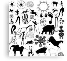 cave paintings - primitive art Canvas Print