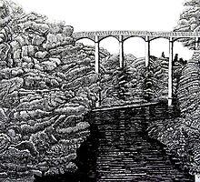 238 - PONTCYSYLLTE AQUEDUCT - DAVE EDWARDS INK - 2012 by BLYTHART