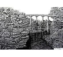 238 - PONTCYSYLLTE AQUEDUCT - DAVE EDWARDS INK - 2012 Photographic Print