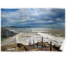 Stormy Lyme Regis Poster