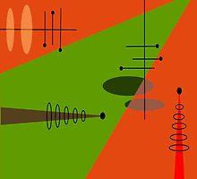 Mid-Century Modern Abstract Orange by Gail Gabel, LLC