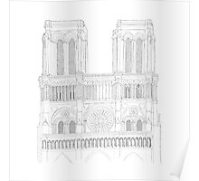 Notre Dame Cathedral - urban sketch Poster