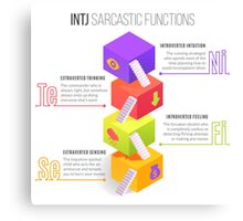 INTJ Sarcastic Functions Canvas Print