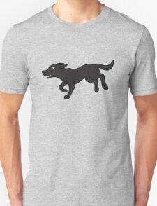Black Labrador Retriever Running T-Shirt