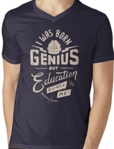 Born Genius Mens V-Neck T-Shirt