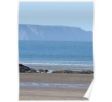 DISTANT CLOVELLY FROM WESTWARD HO! Poster