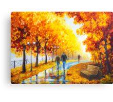 Autumn parkway Canvas Print
