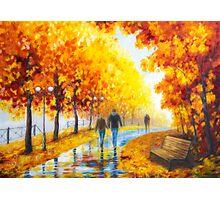 Autumn parkway Photographic Print