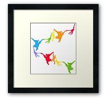 Rainbow Monkeys Framed Print
