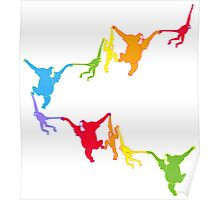 Rainbow Monkeys Poster