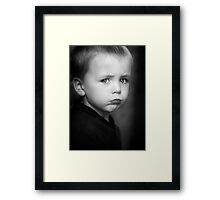 I will Not Smile Framed Print