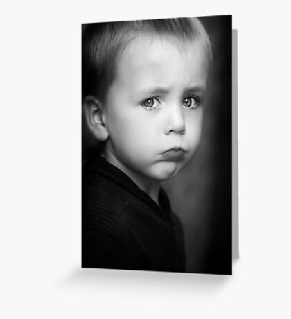 I will Not Smile Greeting Card