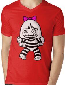 Stripey doll Mens V-Neck T-Shirt