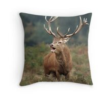 Bellowing Red Stag Throw Pillow