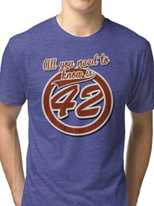 All you need to know is 42 Tri-blend T-Shirt