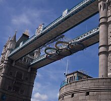 Olympic Rings, Tower Bridge, London by MagsWilliamson