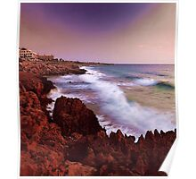Colorful Coastal Waves Poster