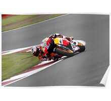 Moto GP12 @ Silverstone Casey Stoner Honda Repsol Poster