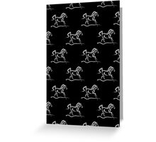 Horse 'Runner' Print and Products Greeting Card