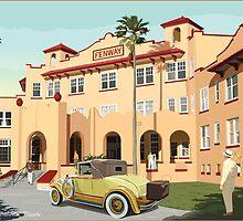 Art Deco Fenway Hotel, Dunedin, Florida by contourcreative