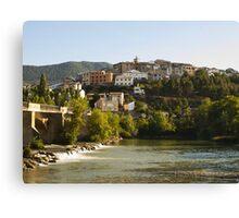Caseda and Aragon River Canvas Print