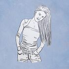 Young casual woman in jeans by Lisa Kyle Young