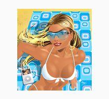 Sexy Beach Girl Retro Cool Unisex T-Shirt