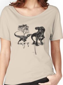 Dinosaur fight Women's Relaxed Fit T-Shirt