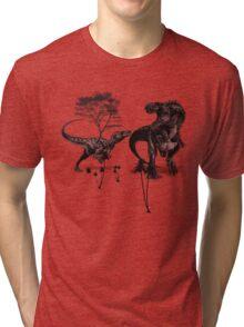 Dinosaur fight Tri-blend T-Shirt