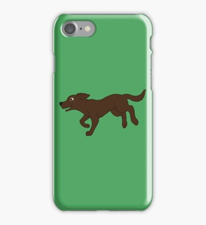 Chocolate Labrador Retriever Running iPhone Case/Skin