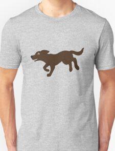 Chocolate Labrador Retriever Running T-Shirt