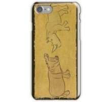 Gentle Giants - Rhino and Hippo Drawing on Tribal Pattern iPhone Case/Skin