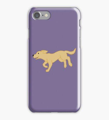 Yellow Labrador Retriever Running iPhone Case/Skin