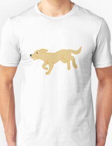 Yellow Labrador Retriever Running Unisex T-Shirt
