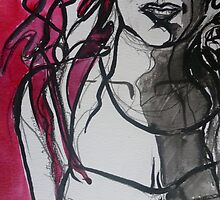 Red & Black  by Anthea  Slade