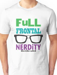 Full Frontal Nerdity by Black Sheep Sk8, Lucy Dynamite Unisex T-Shirt