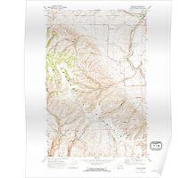 USGS Topo Map Washington State WA Douglas 240887 1968 24000 Poster