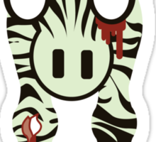 Zoombies! Zebra Zoombies are coming Sticker