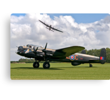 Two Lancasters at East Kirkby Canvas Print