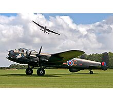 Two Lancasters at East Kirkby Photographic Print