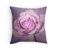 Tinted Rose with Textured Background Throw Pillow