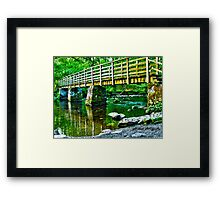 lake placid HDR Framed Print
