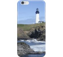 Lighthouse on the coast iPhone Case/Skin